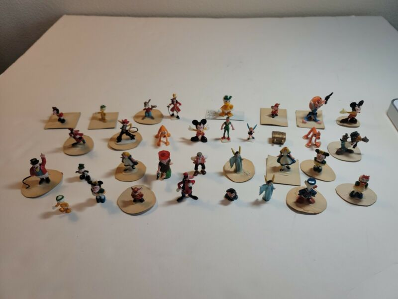 Disney Miniatures Disneykins - Mix of Characters - Lot of 33 peices