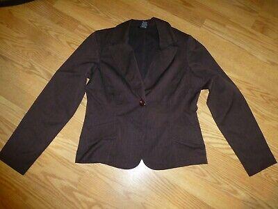 Ladies Size 12 Brown Striped T. Milano Pant Suit