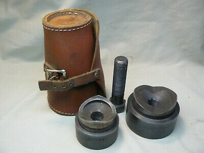 Greenlee Knockout Punch Set Of Two In Leather Case