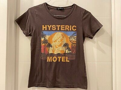 HYSTERIC GLAMOUR HG Motel Nude Womens Ladies T Shirt Tee Brown Free Size Small