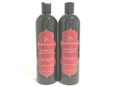 Marrakesh Nourish Shampoo & Conditioner 25oz Combo Original Argan & Hemp Oil  Hemp Nourishing Conditioner