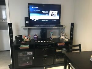 Tv stand and Sony blue ray and surround sound