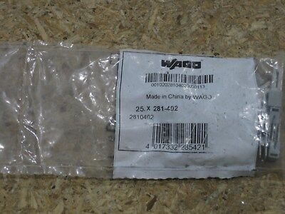 New Wago Terminal Block 2 Pole Jumper 281-402 New Factory Sealed Bag Of 25