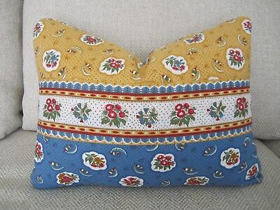 Pierre Deux Pillow Smutty & Yellow Ochre Avignonet French Country Toile Provence