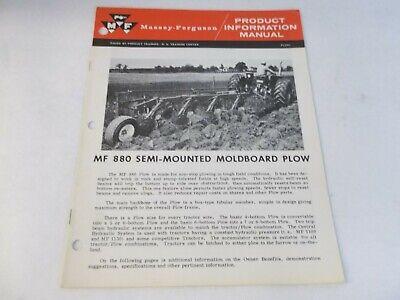 Massey Ferguson Mf 880 Semi Mounted Moldboard Plow Product Information Manual