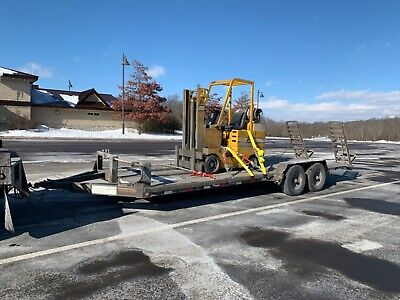 Heavy Duty Flatbed Wood Deck Equipment Trailer 20 Feet