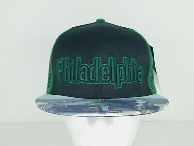 City Hunter Hats (City Hunter Black & Green Philadelphia Stadium Adjustable Flatbill Snapback)