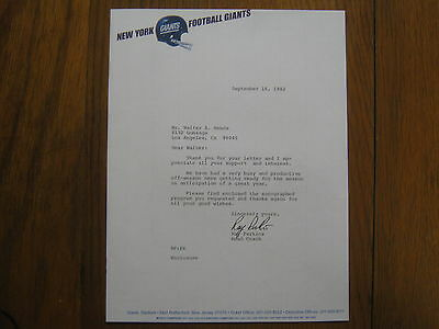 """RAY  PERKINS   Signed   8"""" x  10 1/2""""  Personal   Letter-Dated  Sept. 16,  1982"""