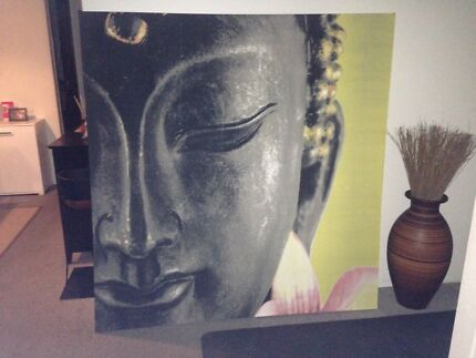 Buddha print wall hanging large