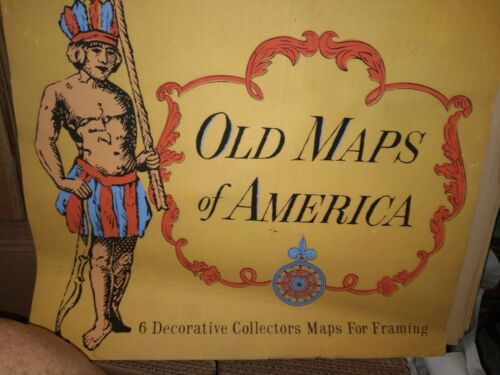 Old Maps of America - 5 Decorative Collectors Maps For Framing Howard Morris