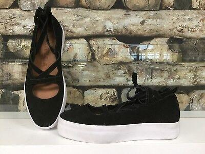 BIMBA Y LOLA Damen Schuhe Damenschuh Schwarz Weiß Leder Plateauabsatz Schnur NEU - Weiß Schwarz Leder Schuh
