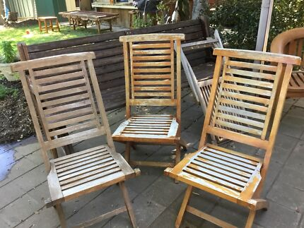 Outdoor dining chairs Ascot Teak