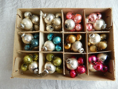 Lot of  Vintage Christmas Ornaments Mercury Glass Japan #227