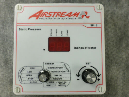 Airstream SP-2 Static Pressure Ventilation Control Front Panel - 90 Day Warranty
