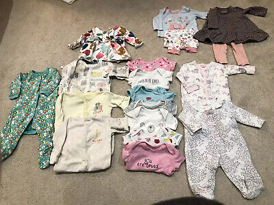 Baby girl clothes bundle 0-3 months. Various Brands