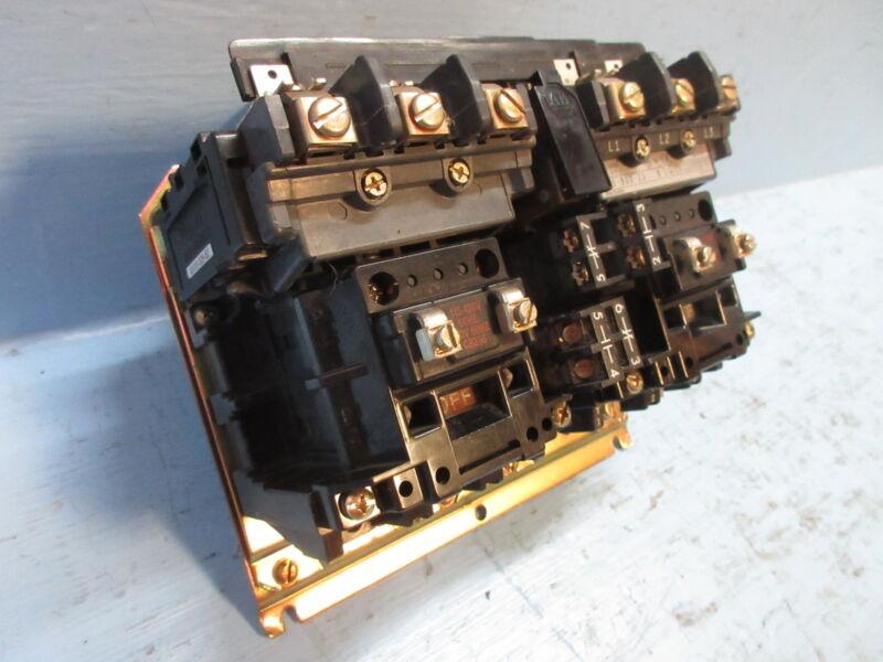 Allen Bradley 505-BOD-23 Size 1 Reversing Contactor 120V Coil Sz1 505-B0D-23 A-B