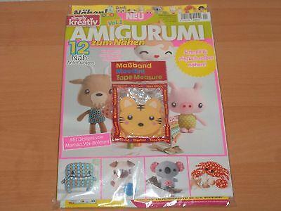 Simply kreativ AMIGURUMI 12 Nähanleitungen + Maßband Ausgabe Juni 2017