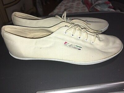 Authentic VTG 90s LA Gear Women's White Canvas Lace Up Sneakers Size 8.5