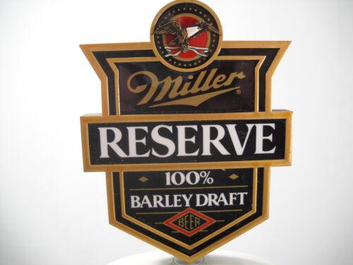 Miller Reserve 100% Barley Draft Beer Tap Handle