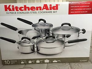 Kitchenaid 10 piece stainless steel set