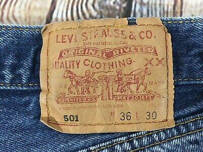 LEVIS 501 Button Fly Jeans Men's Size 36 x 30