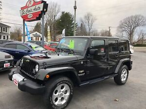2014 Jeep Wrangler Unlimited Sahara Leather , Navagation