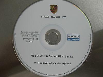 PORSCHE 911 CAYENNE BOXTER NAVIGATION MAP DVD WEST& CENTRAL US & CANADA 08.2004