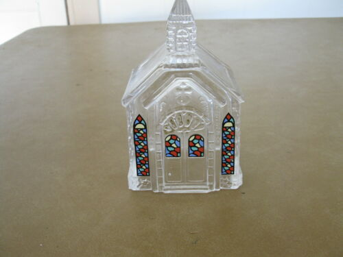 Decorative Glass Church with Stained glass Windows