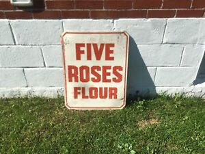Five roses flour sign from the 50's orange crush Mountain Dew