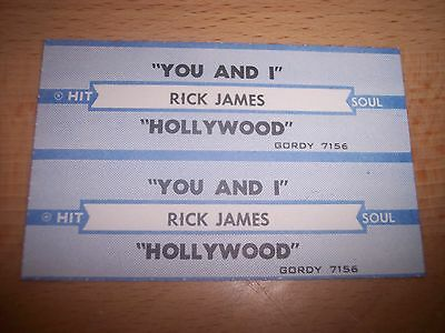 "2 Rick James You And I / Hollywood Jukebox Title Strips CD 7"" 45RPM Records"