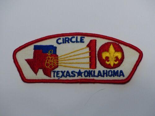 Circle 10 Council Texas Okla. Red Boy Scout BSA CSP Council Shoulder Patch #T?