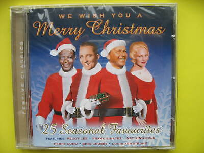 V/A-WE WISH YOU A MERRY CHRISTMAS. CD ALBUM. CROONERS. 25 FESTIVE SONGS. NEW ()