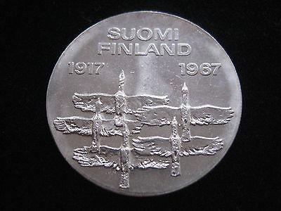 """MDS FINNLAND 10 MARKKAA 1967 """"UNABHÄNGIGKEIT"""", SILBER  #31"""