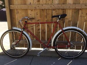 Vintage antique cafe racer bicycle