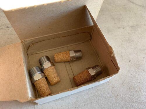 """Box of 4 Schrader Bellows 1/4"""" Muffler Filters 046040004, NOS"""