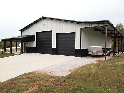 40x75x12 Steel Building Simpson Garage Storage Barn Metal Shop Kit
