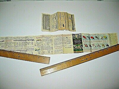 "2 VINTAGE Heddon Lures & fly rods POCKET CATALOG 1950's 24"" free letter ship"