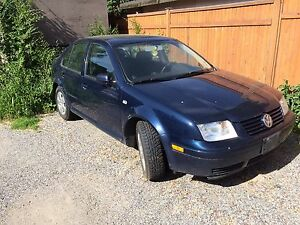 2003 VW Jetta 1.8L  New Winter Tires on car  (engine seized)