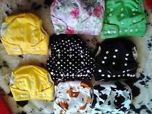 bubby modern cloth nappies $20  the set of 8 . Rutherford Maitland Area Preview