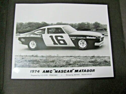 """1974 AMC """"NASCAR"""" MATADOR ORIGINAL PRESS PHOTO.....rare"""