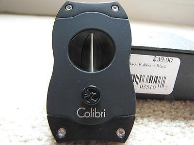 Colibri V-Cut Cigar Cutter - Black - CU300T1 - New