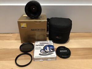 Nikon 50mm 1.8D lens with accessories