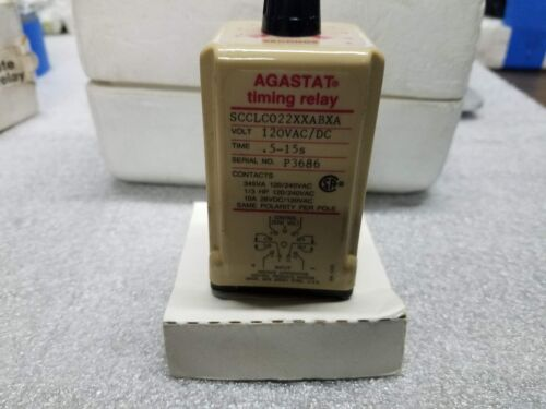 Agastat SCCLC022XXABAXA Solid state timing relay 5-15 sec