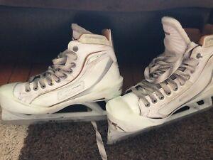 Bauer supreme goalie skates, size 9