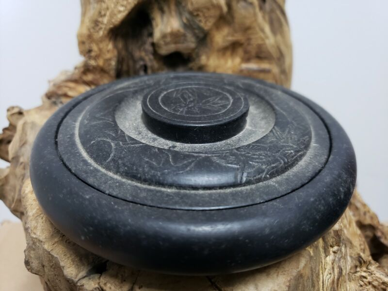 Chinese  Black Stone  Box  (For Chinese Ink)