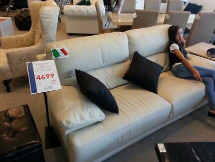 Italian Leather Lounge Suite Flagstaff Hill Morphett Vale Area Preview