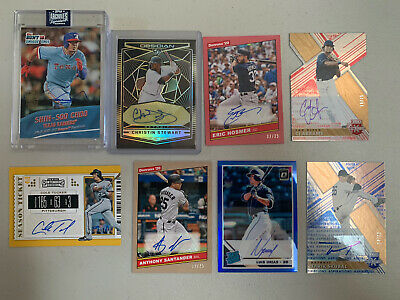 Huge MLB Autograph/Relic Lot - Choo, Urias, Hosmer, Thames, Cole, Stewart /10