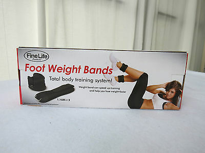 NEW IN BOX - Set of Two FineLite Ankle/Wrist/Arm Soft Adjustable Weight Bands