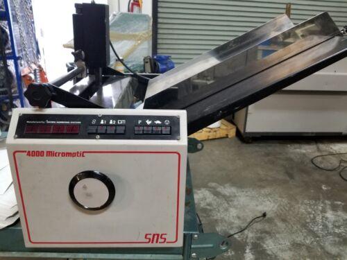Pierce SN 4000 Micromatic Numbering Machine