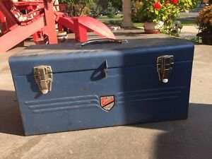 Blue bench tool box